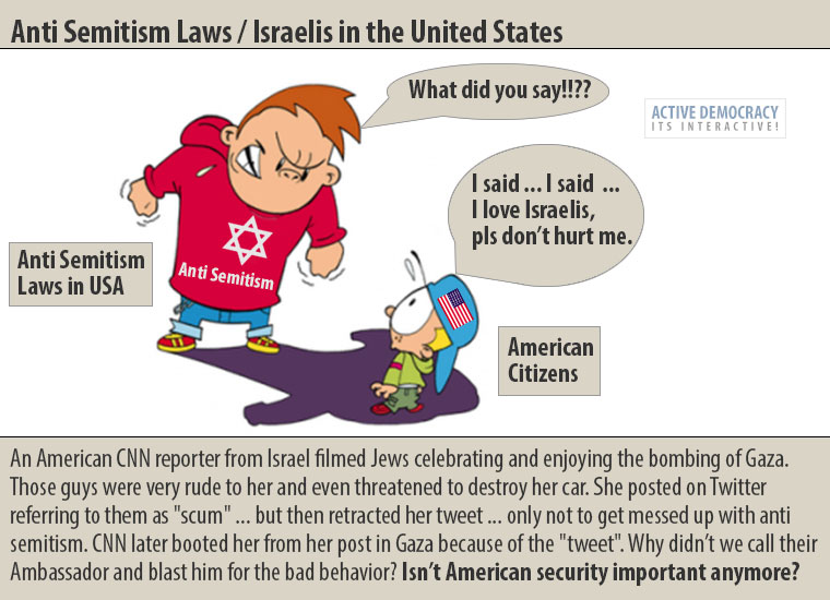 Anti Semitism Laws / Israel in the United States.