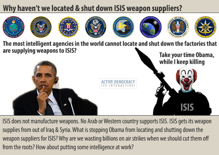 Why haven't we located ISIS weapon suppliers?